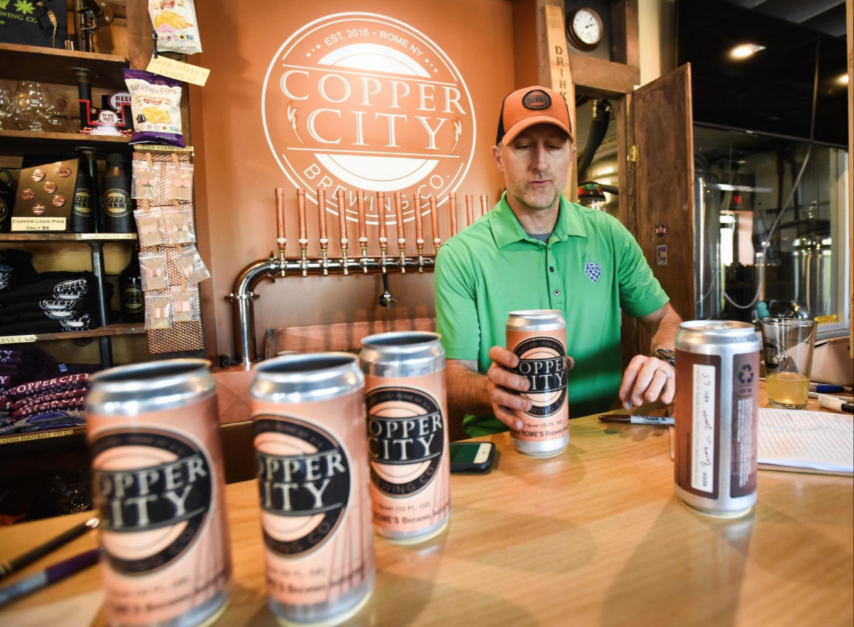 Open for business: Get a beer to go at Copper City Brewing Co.